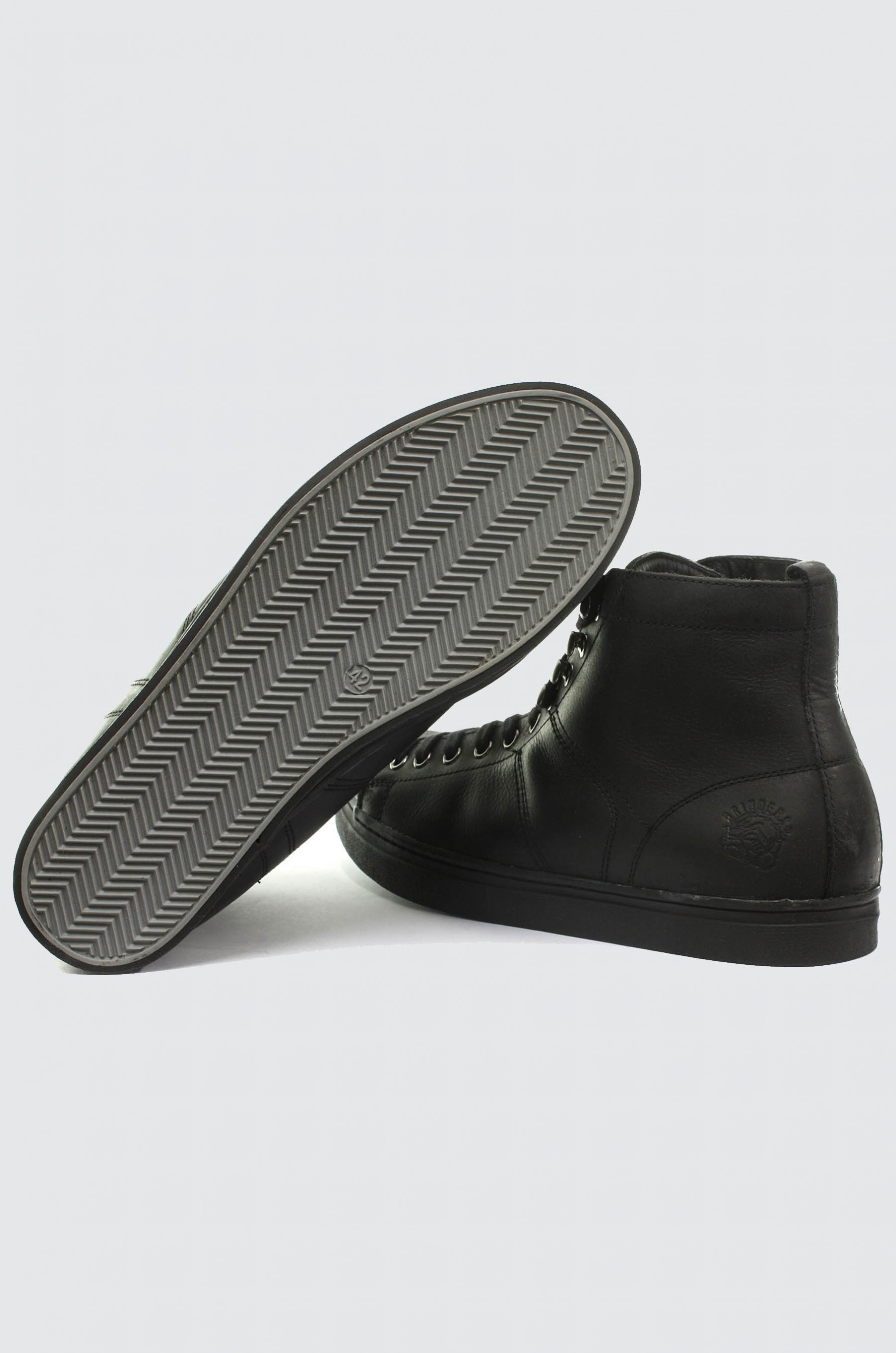 Clothing, Shoes & Accessories New Grinders Max Black Unisex Trainer Style Mid Cut Leather Upper Lace Up Shoe