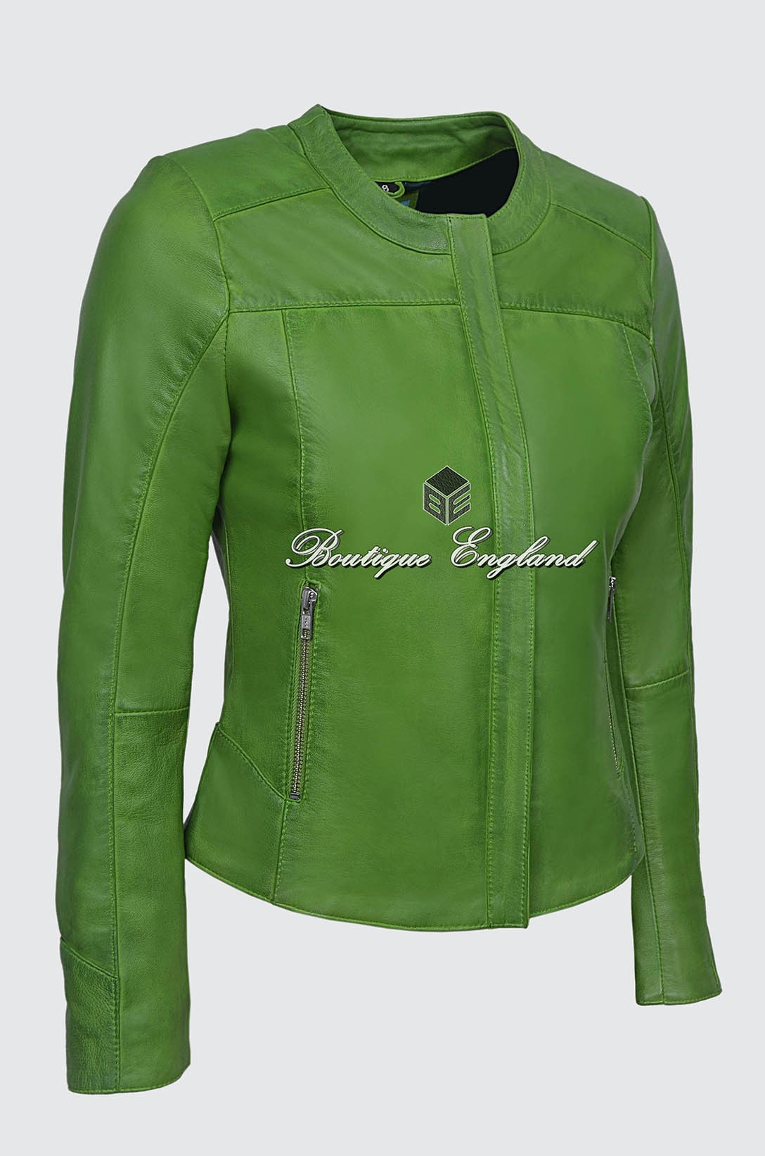 Ladies 5328 Lime Green Stylish Fashion Designer Quilted