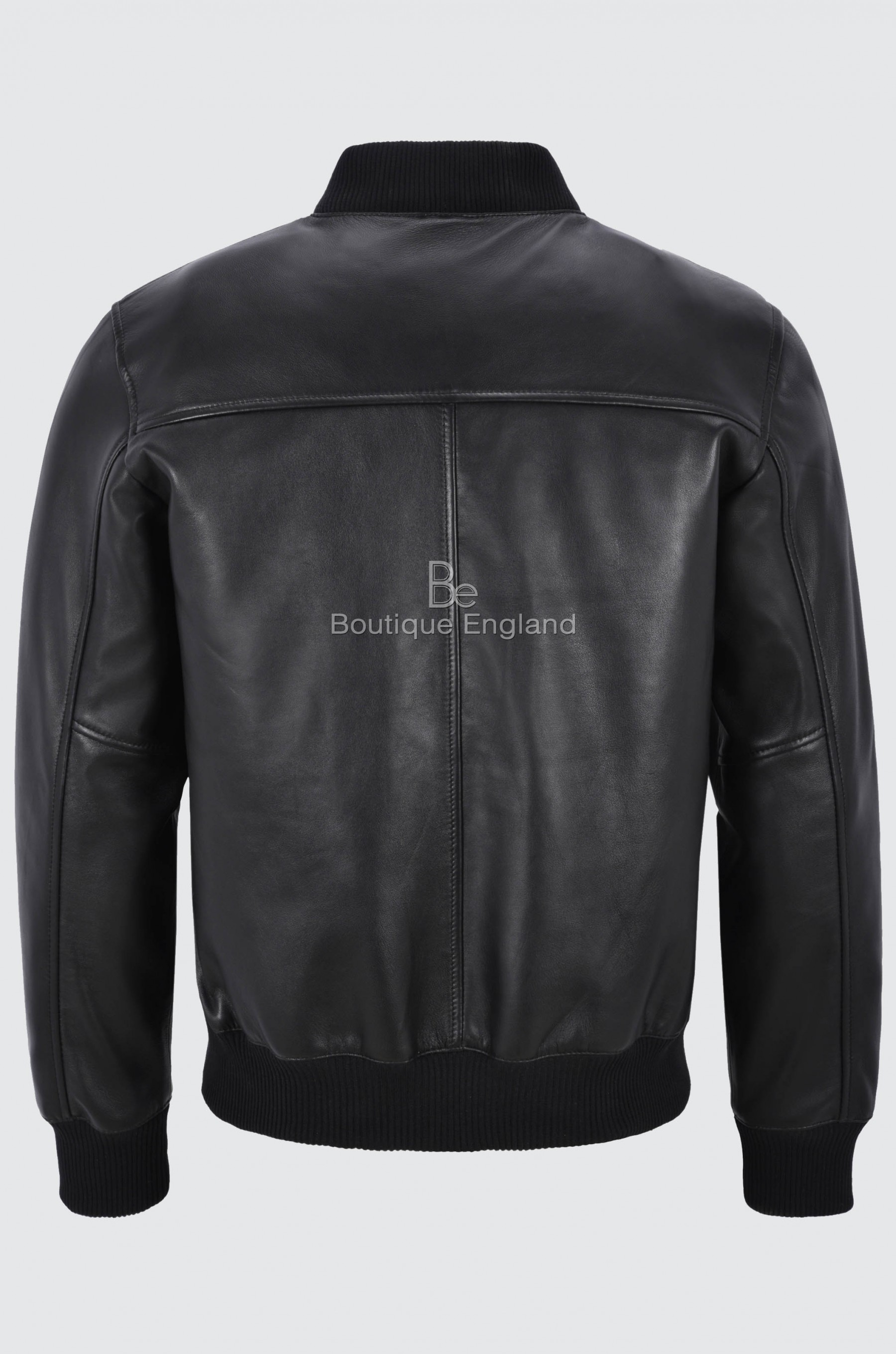 New 70 S Men S Retro Bomber Black Front Straight Zip