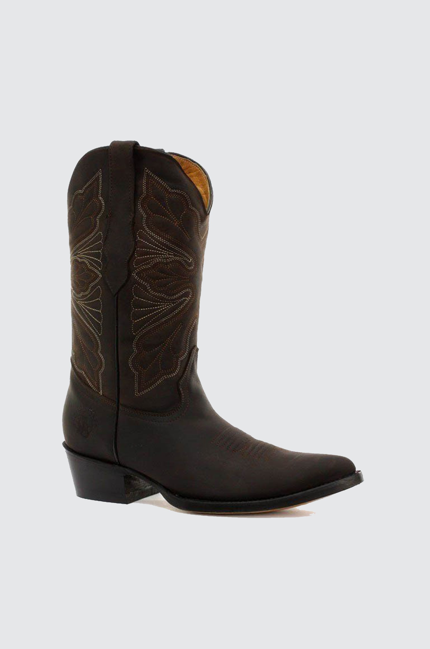 Grinders Womens Dallas Brown Real Leather Boot Cowboy Western ... 77fcf9e9b