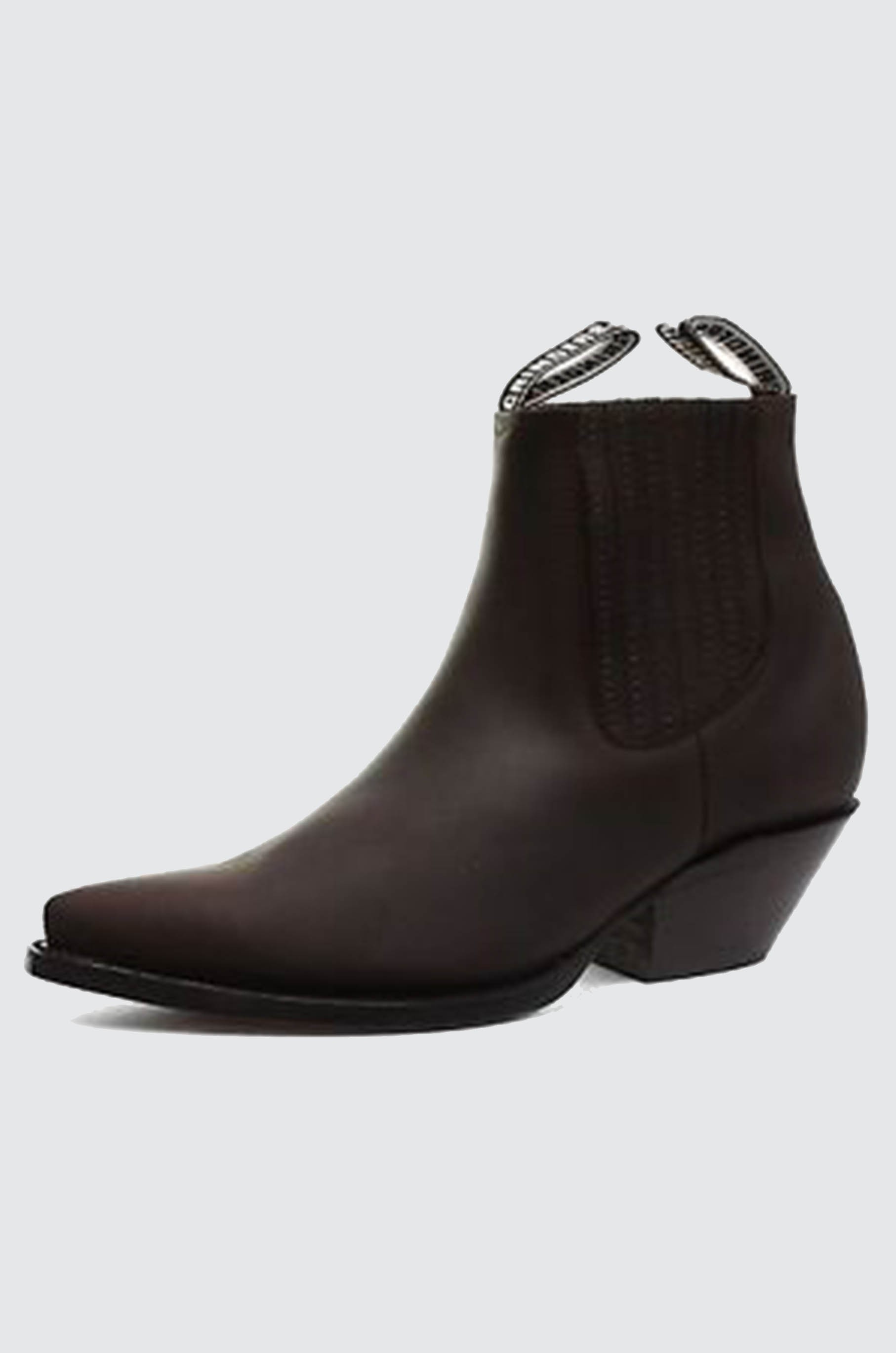 Grinders Mustang Brown Real Leather Cowboy Boot Slip On Cuban ... 40b2d2ad3daa