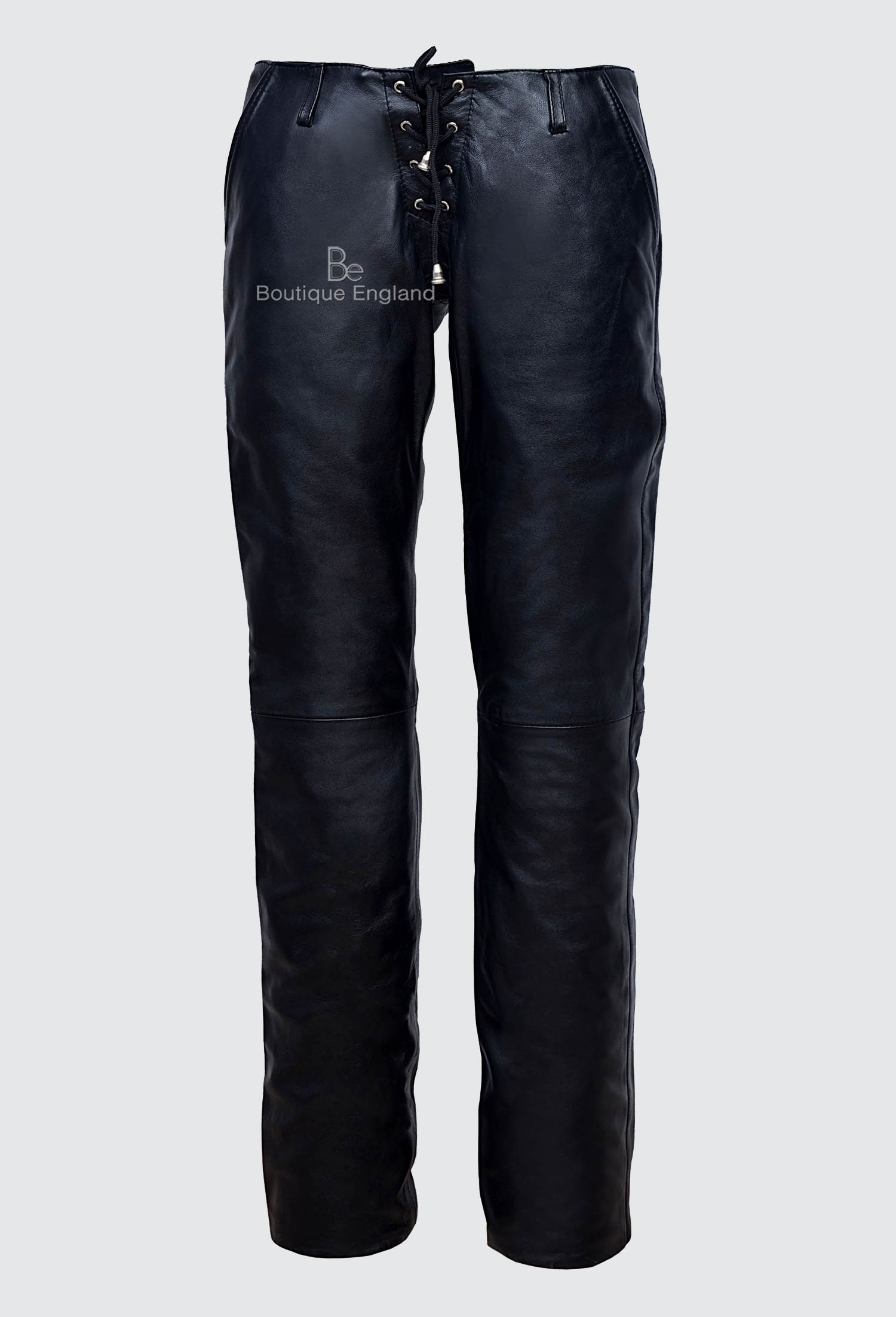 Ladies Leather Trouser Black Low Waist HIPSTER STYLE REAL NAPA LEATHER 4326-B