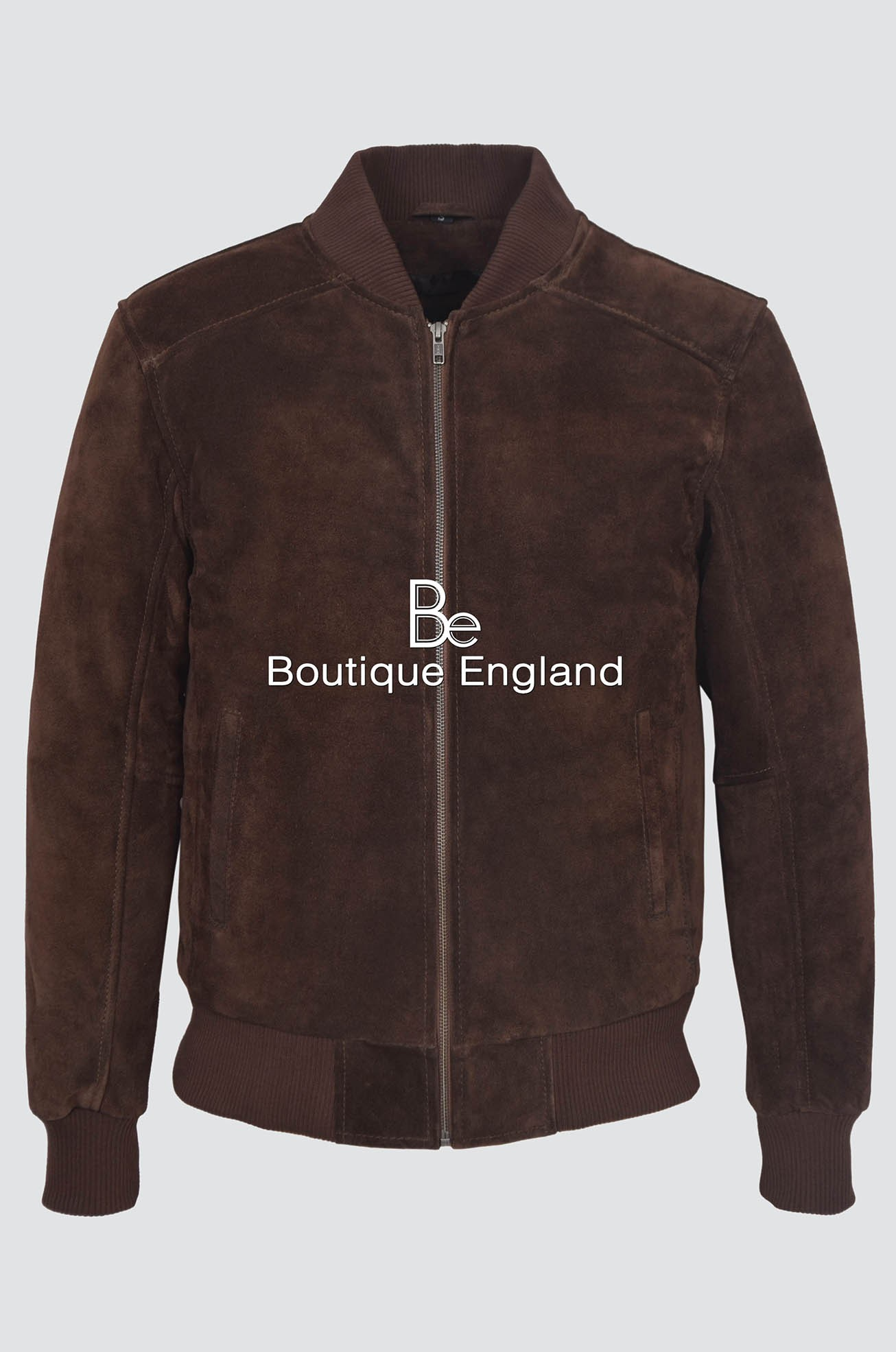 Men's 275-P Brown Suede Classic Biker Style Italian Fitted Real Leather Jacket