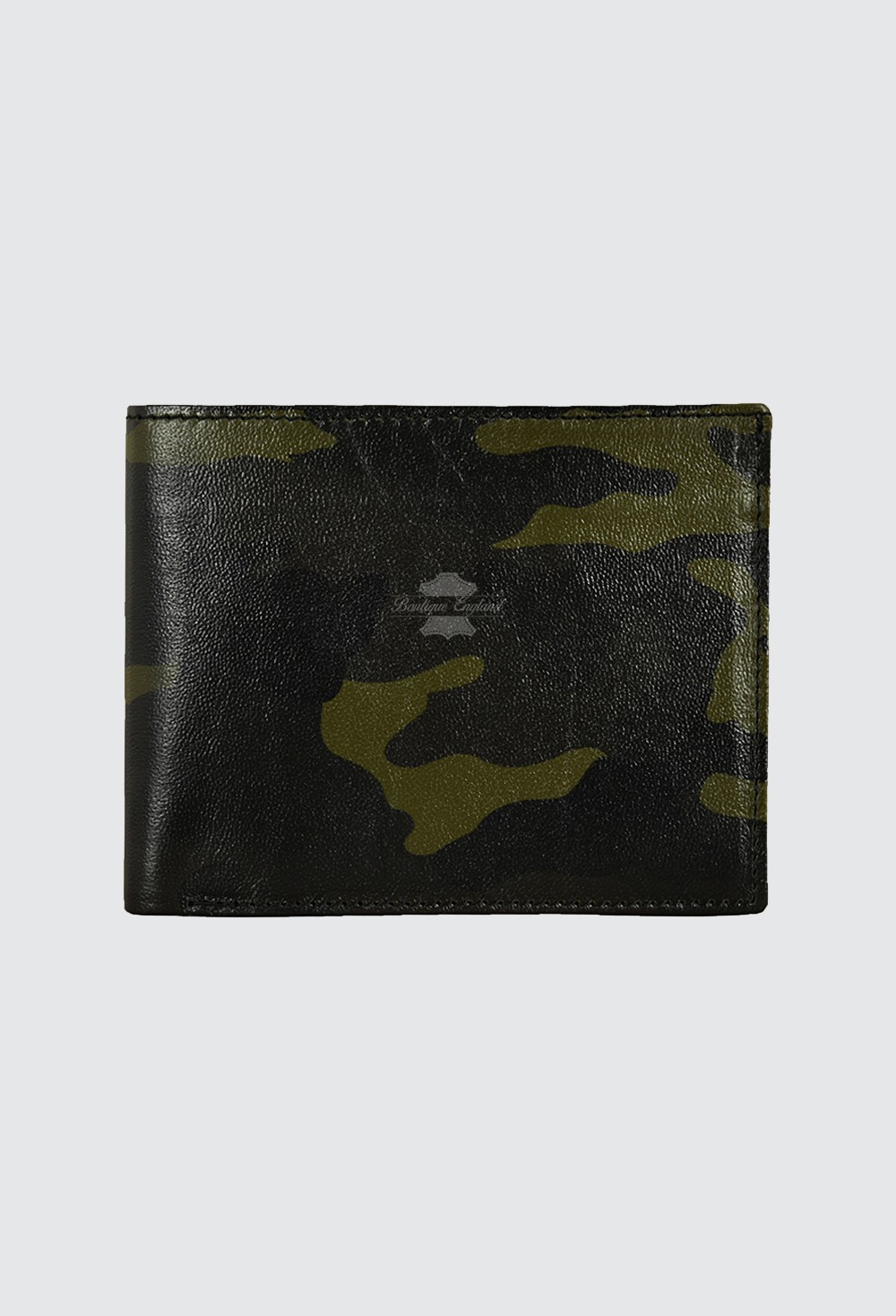 Men's Leather Small Wallet Camouflage ID, Cards Holder 100% Real Leather 1515