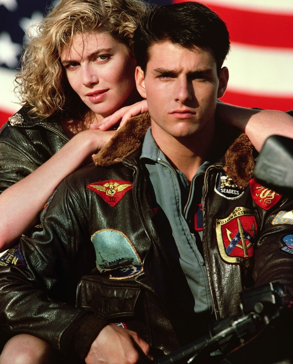 'TOP GUN 'Movies Inspired Brown Leather Jet Fighter Bomber Navy Air Force Pilot 100% Leather
