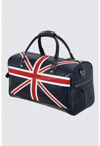 Union Jack Leather Bag Navy Weekend Travelling Holdall Real Leather Product