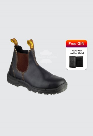 Blundstone Style 192 Chelsea Boot Stout Brown Safety Toe Dealer Australian Boots