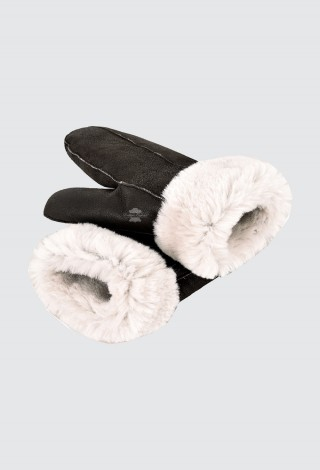 B-3 Sheepskin Mittens Gloves Thick Real Shearling Fur Winter Gloves Warm Mitts