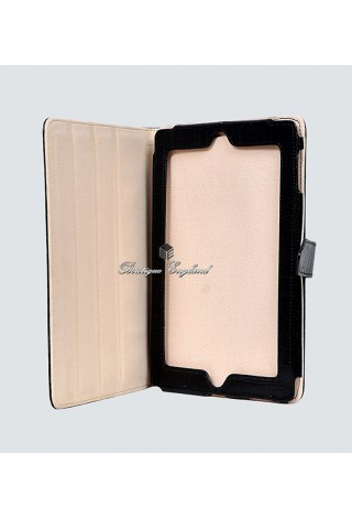 i-PAD Black Croc 2 3 & 4 Print Luxury Real Genuine Leather Cover Case Stand