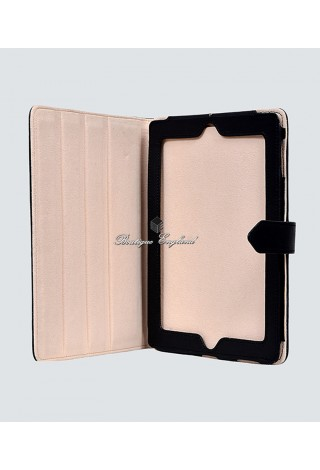 i-PAD 2 3 & 4 Black Washed Lambskin Luxury Real Genuine Leather Cover Case Stand