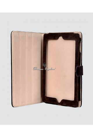 Deluxe i-PAD 2 3 & 4 Brown Suede Real Genuine Leather Luxury Cover Case Stand