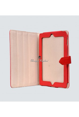 i-PAD 2 3 & 4 RED Washed Lambskin Luxury Real Genuine Leather Cover Case Stand