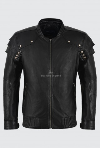 Witch Hunter Movie Inspired Men's Real Leather Jacket Black Classic Napa Italian Lambskin Leather  9280