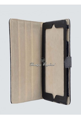 i-PAD 2 3 & 4 Black Washed Cowhide Luxury Real Genuine Leather Cover Case Stand