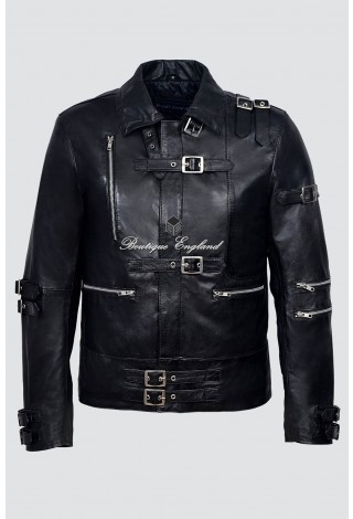 Men's Michael Jackson BAD Black Style MUSIC Real Nappa Lambskin Leather Jacket
