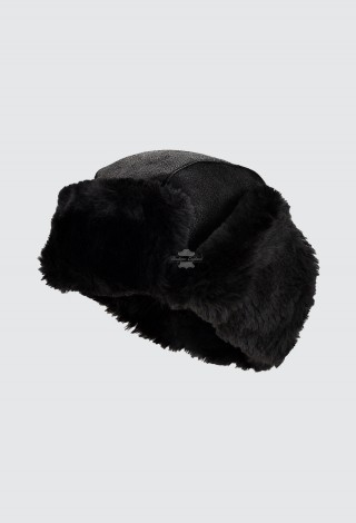 Men's B3 Black Hat RAF Aviator Shearling Sheepskin WW2 Flying Trapper Hat