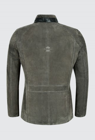 CAFE RACER Men's Jacket Supreme Biker Soft Italian Grey Nubuck Leather Jacket 2024