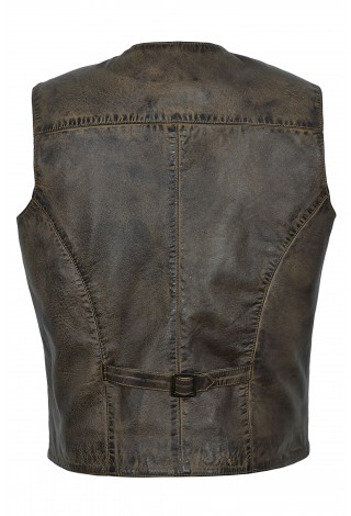 New Party Waistcoat Fashion Style Dirty Brown Real Geniune Classic Desingner Real Soft 5226 Lambskin Leather Vests