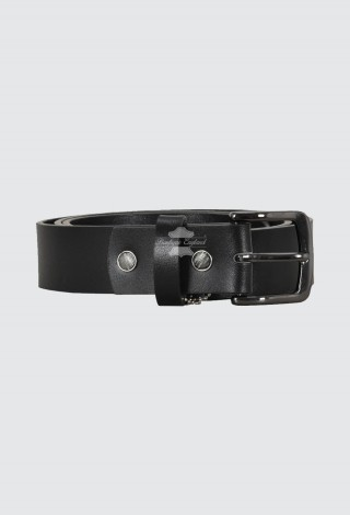 Men's Real Leather Belt Black With Box & Cover Gift Pack For Special Events 601