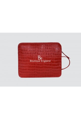 4040 iPAD Red Crocodile Print Hand Made Bag Good Quality Real Leather iPAD Pouch