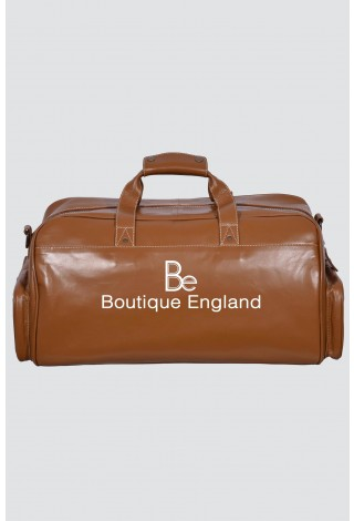 New WEEKEND 9225 Tan Beige Stripe Large Holdall Duffle Travel Gym Real Leather Bag