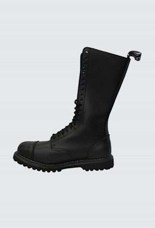 Grinders King CS Black 20 Hole Men's Ladies Safety Cap Steel Toe Boots Leather
