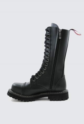 Angry Itch Boots 14 Hole Black Combat Leather Army Ranger Boots Steel Toe AI14Z/B/LE
