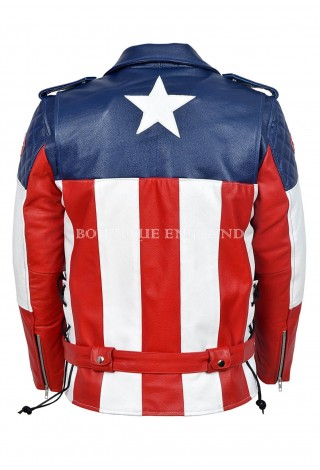 The First Avenger Hot Version Captain America Real Cow Hide Leather Jacket 5260