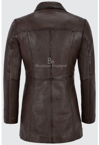 MISTRESS Ladies Brown Gothic Style Fitted Real Lambskin Leather Jacket Coat 1310