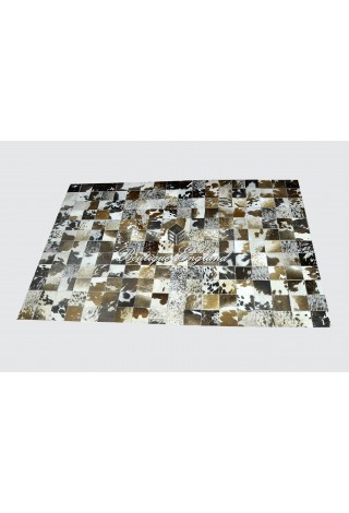 Spotted Brown Real Cow Fur Quality Leather Luxury Premium Rugs Skins