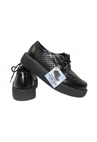 TUK V8883 Viva Low Unisex-Adult Perforated Creeper in Black Shoes P-124