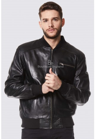 Men's Black Napa Classic Biker Style Italian Fitted Real Leather Jacket 275-Z