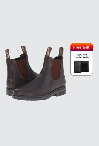 BLUNDSTONE 062 Chelsea Boots Stout Brown Premium Leather Non-Safety