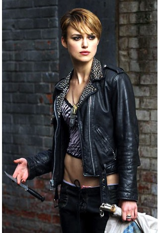 Keira Knightley DOMINO Movies Inspired Black Rockstar Women's Real Studded Leather Biker Jacket 4326