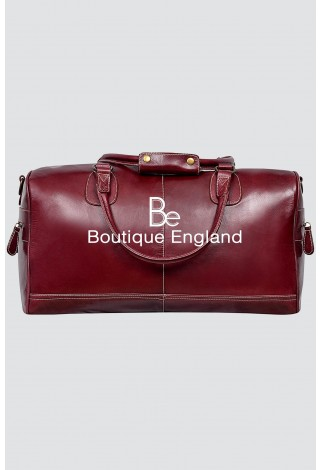 HOLDALL Large Weekend Cherry Glaze Duffle Travel Gym Real Genuine Leather Bag