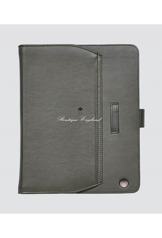 iPAD 2 3 & 4 Khaki Green Washed Lambskin Luxury Real Genuine Leather Cover Case Stand