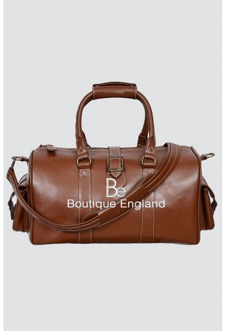 'DUFFLE' Medium Weekend Burnish Holdall Travel Gym Real Genuine Leather Bag