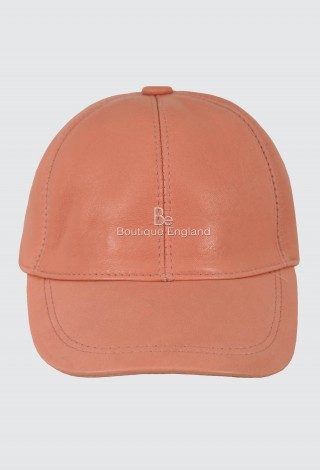 Leather Rose Gold Baseball Cap Adjustable Strap Peak Hat Unisex Trucker Hip-hop Lambskin