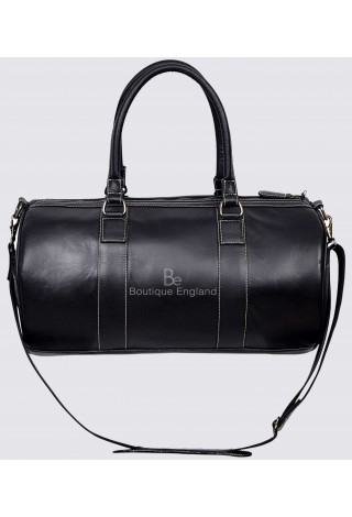 Holdall New Stylish Black Weekend Duffel Travel Gym 100 % Real Cowhide Leather Bag 9098