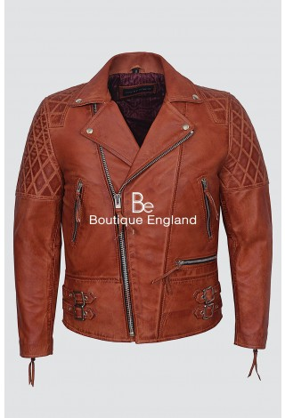 'RECKLESS' Men's 233 Crust Burgundy Biker Style Motorcycle Real Lambskin Leather Jacket