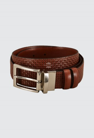 Men's Real Leather Belt Tabacco Adjustable & Reversible Cow Leather Casual Belt 1002