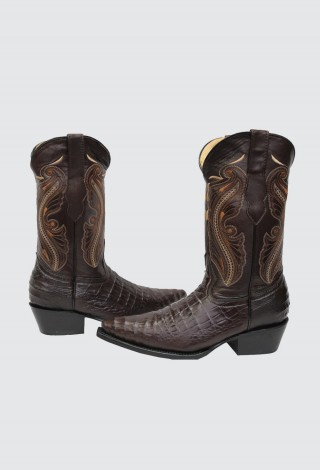New Grinders Womens Indiana Brown Real Leather Cowboy Western Mid Calf Toe Boots
