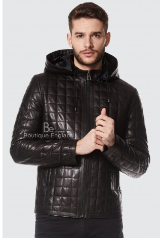 Gerard Butler Quilted Black Den Of Thieves Real Leather Napa Jacket 3043