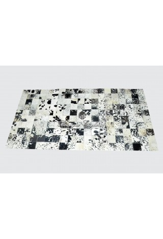New Black Spotted Quality Real Cow Fur Spotted Leather Luxury Premium Rugs Skins