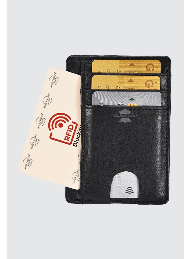 Credit Card Holders RFID Protector Leather Credit Card Case Wallets Unisex 4325