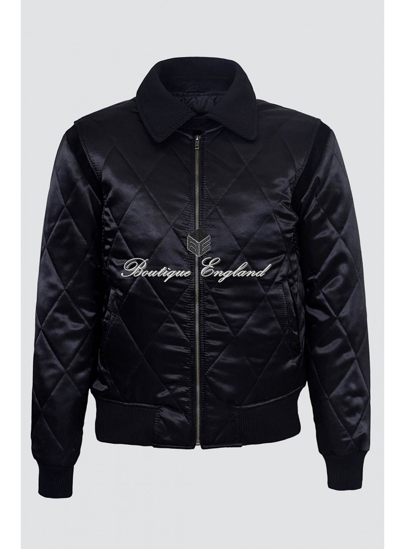 'DRIVE' Silver 4011 Black SCORPION Men's Satin Fitted RYAN GOSLING Film Movie Jacket